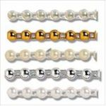 Pearl Beading: Flat Back: 25m x 4mm - Full Colour Range